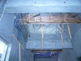 一階天井部「AIRIN-PL」施行状況