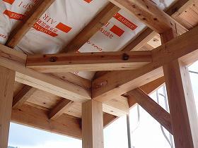 雁木部垂木上から「AIRIN-SPII」施行