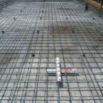 基礎工事耐圧盤鉄筋組