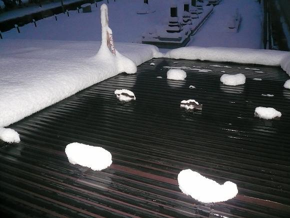 融雪状況写真 積雪約25cm