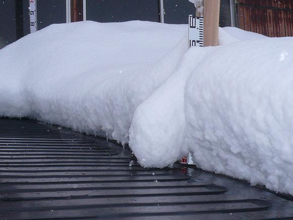 融雪状況写真 積雪約55cm